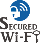 SECURED Wi-Fi ステッカー